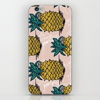 pinapple iPhone & iPod Skins featuring Large pina palatern by JennieAblanedo
