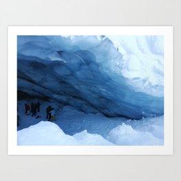 Majesty of Blackcomb Glacier Ice Cave Art Print