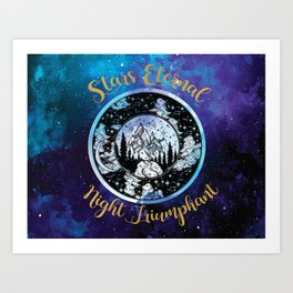 A Court of Mist and Fury - Stars Eternal Night Triumphant Art Print