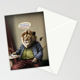 Hungry Lion Stationery Cards