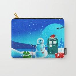 Tardis Christmas Cute Snowball Carry-All Pouch