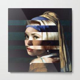 """Vermeer's """"Girl with a Pearl Earring"""" & Grace Kelly Metal Print"""