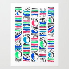 Penguin Tribe Art Print