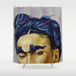 Frida Kat-lo Shower Curtain