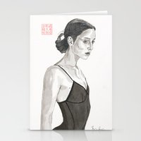 ballerina Stationery Cards featuring Ballerina by Bryan James