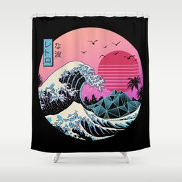 The Great Retro Wave Shower Curtain