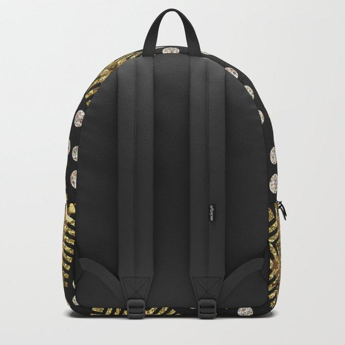 Black Gold   Geometric Tribal Backpack