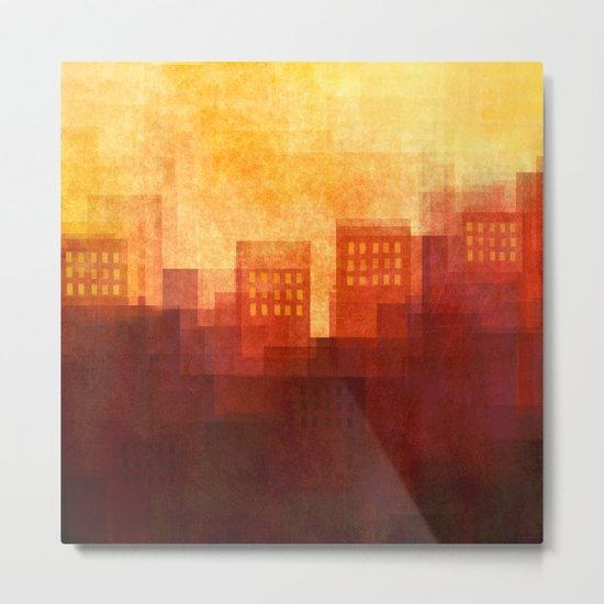 Sunny city Metal Print