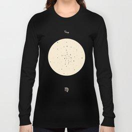 Virgo - Black Long Sleeve T-shirt
