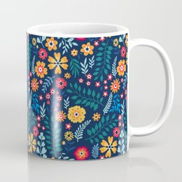 """Cute Floral pattern of small flowers. """"Ditsy print"""". Coffee Mug"""