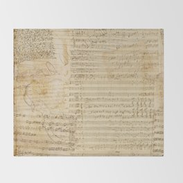 Classical music notations Throw Blanket