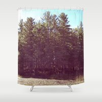 manchester Shower Curtains featuring Manchester Swamps by katarjana