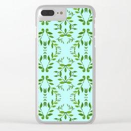 zakiaz holli aqua & green Clear iPhone Case
