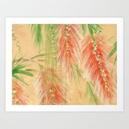 red weeping willow Art Print
