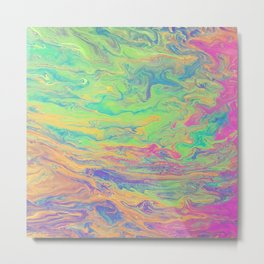 Retro Rainbow Metal Print