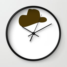 Cowboy Cowgirl Saddle Up and Smile Wall Clock