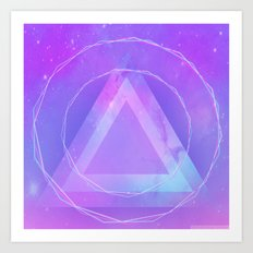 Galaxy triangle Art Print