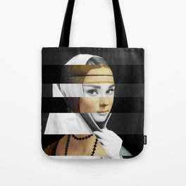 Leonardo da Vinci's Lady with a Ermine & Audrey Hepburn Tote Bag