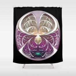 Sphere of Light Shower Curtain