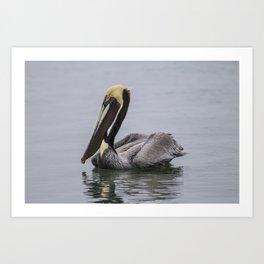 The Glancing Fisherman Art Print