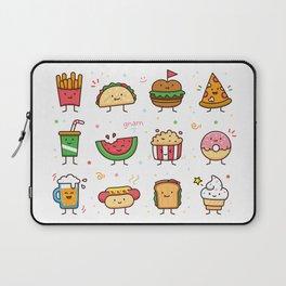 Food Doodle Laptop Sleeve