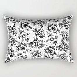 trad flowers Rectangular Pillow