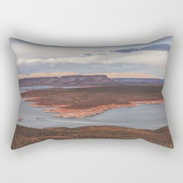 Cutting Through Lake Powell Rectangular Pillow