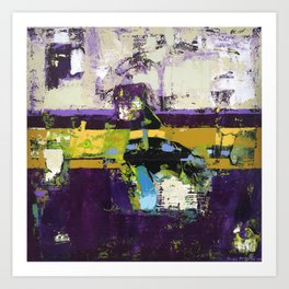 Controversy Prince Deep Purple Abstract Painting Modern Art Art Print