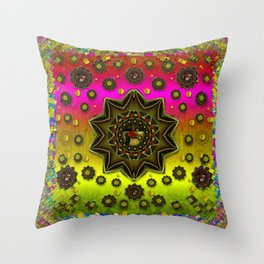 Stars a dove a  woodo stratocaster in peace and leather Throw Pillow