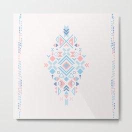 Boho symmetric geometric design Metal Print