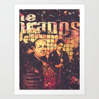 sopranos Art Prints featuring The Sopranos (in memory of James Gandolfini)2 by Nechifor Ionut