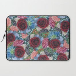 Garden Bouquet  through Stained Glass Laptop Sleeve
