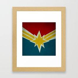 Modern CaptainMarvel Framed Art Print