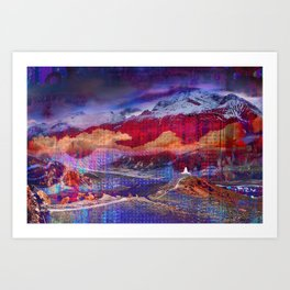 The Annapurna Circuit Art Print