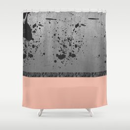 Concrete, Ink and Pink Shower Curtain