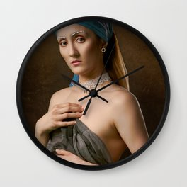 Girl in a Silent Room Wall Clock