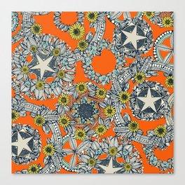 cirque fleur orange stone star Canvas Print