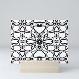 fancy grid Mini Art Print