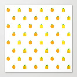 Ji Li Ong Lai / Orange & Pineapple Canvas Print