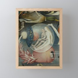 THE GARDEN OF EARTHLY DELIGHTS (detail) - HIERONYMUS BOSCH Framed Mini Art Print