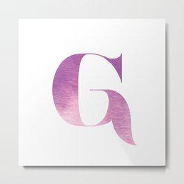 ABC Series - G Metal Print