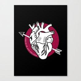 Arrow heart Canvas Print