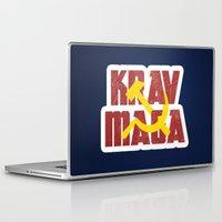 soviet Laptop & iPad Skins featuring Krav Maga Russia Soviet Union by crouchingpixel