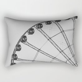 Black and White Wheel Rectangular Pillow
