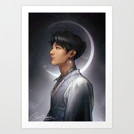 Lunar Jungkook Art Print