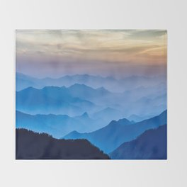 Mountains 11 Throw Blanket