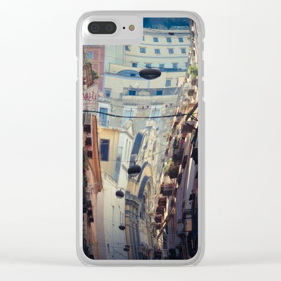 Napoli street Clear iPhone Case