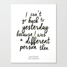 Different person Canvas Print