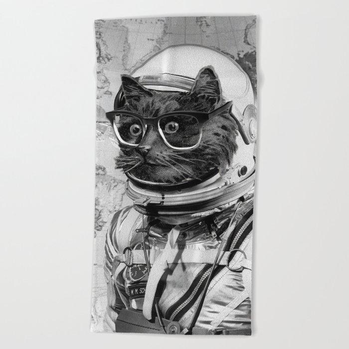 Space Kitten Beach Towel