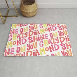 Shine On Your Crazy Diamond – Pink & Melon Palette Rug